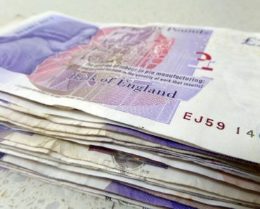A stack of twenty pound notes
