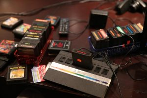 Old games consoles such as Atari