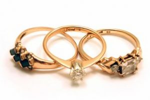 Three valuable gold rings