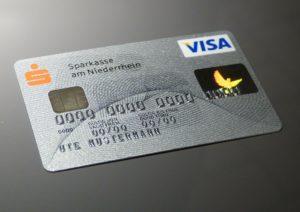 A Visa credit card