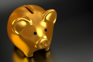 A golden piggy bank