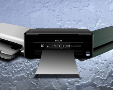 Three desktop printers