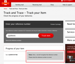 Music Magpie Royal Mail tracking problems