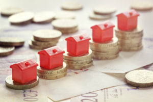 Rising property prices concept