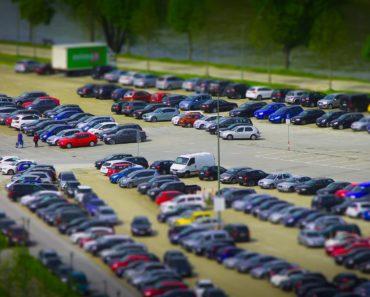 A busy car park