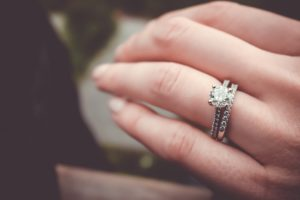 Wearing wedding and engagement rings