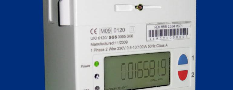 Smart meter recording electricity usage