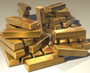 Gold ingots in a pile