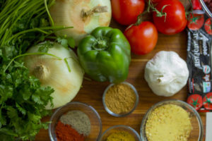 Healthy vegetables and spices