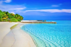 Desert island vacation