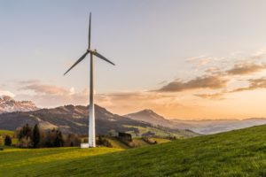 Green Energy from a wind turbine