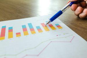 Examining sales charts