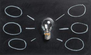 A light bulb green energy concept