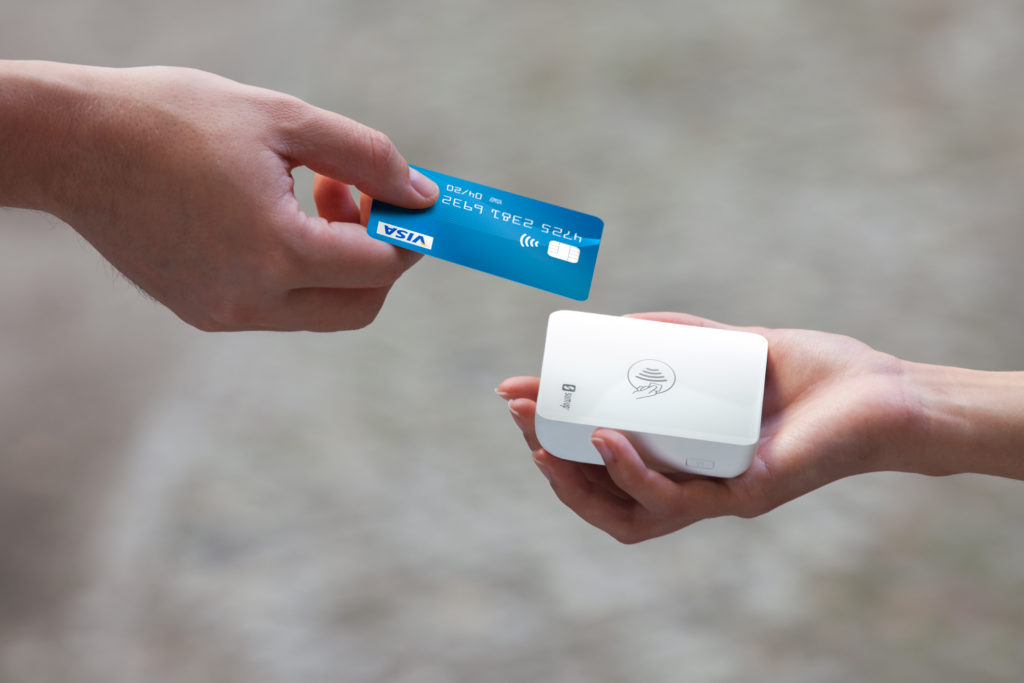 Using a credit card with a SumUp card reader