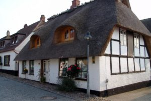 A pretty thatched roof cottage