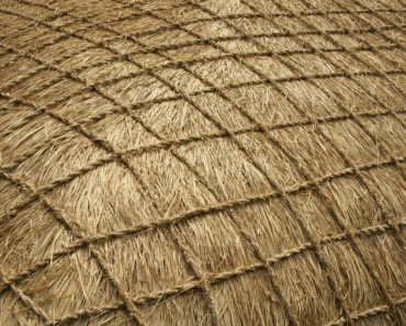 Decorative thatched roof