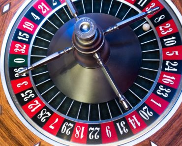A roulette wheel in a casino