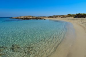 A sandy beach in Cyprus