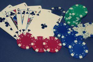 Playing Poker - a royal flush