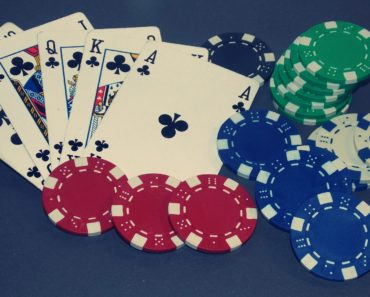 Playing Poker - a royal flush