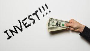 Investing money concept