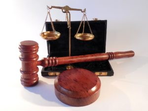 A legal gavel and scales of justice
