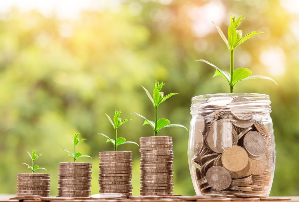 Money growing in value