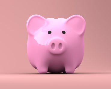 A close up of a piggy bank