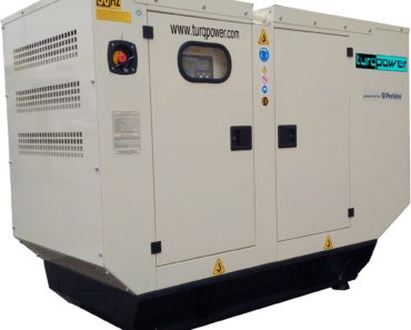 A commercial diesel generator