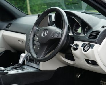 The interior of a Mercedes Benz