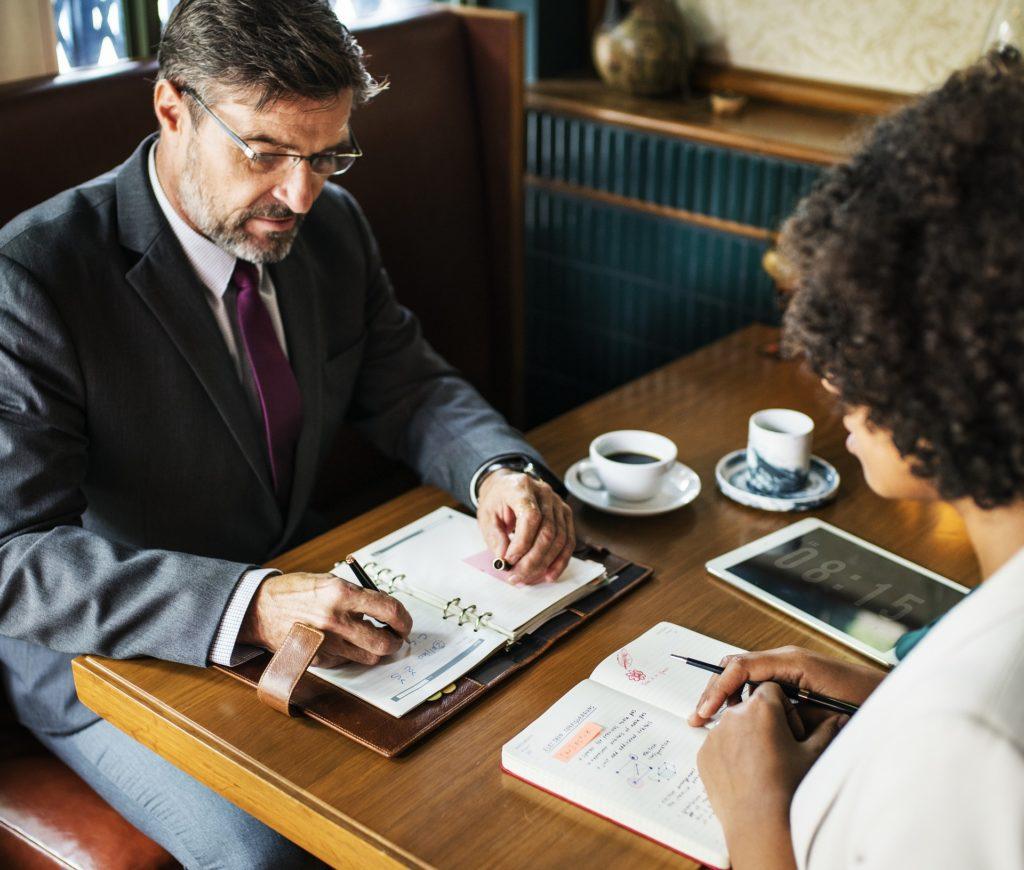 A business interview