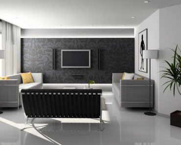 A modern well designed living room