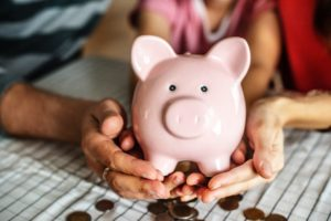 A piggy bank remortgaging concept