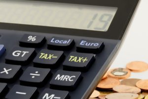 Tax buttons on a Euro calculator
