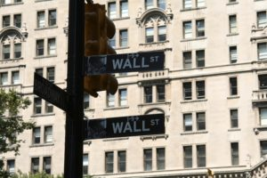A signpost to Wall Street