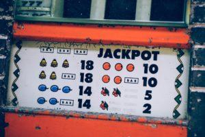 Jackpot displayed on a slot machine