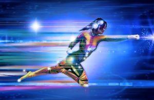A speedy superhero concept