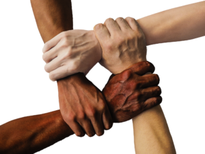 Hands joined - a community concept