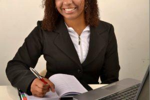 A female entrepreneur