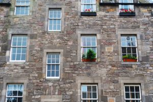 Traditional flats in Edinburgh
