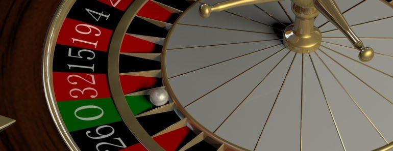 A roulette wheel in a casino