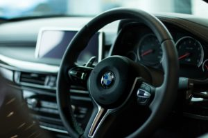 BMW driving cockpit