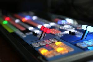 A broadcast video mixer