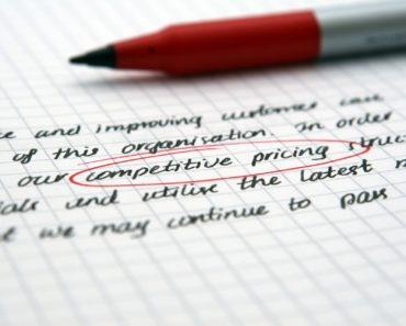Selling with competitive pricing highlighted
