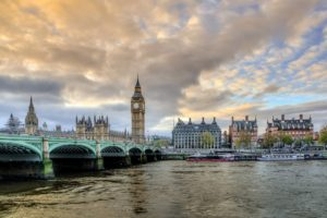 Big Ben and the river Thames in London