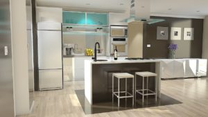 A modern kitchen interior