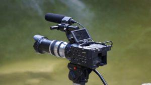A Sony video camera