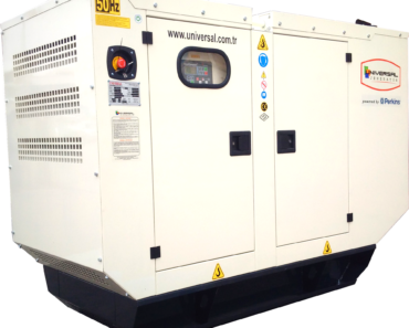 An industrial diesel generator