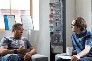 Listening during an informal meeting