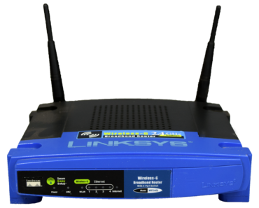 A Linksys wireless router